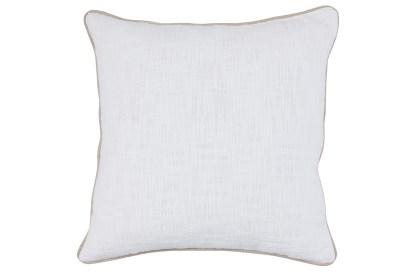 22x22 white textured cotton solid throw pillow