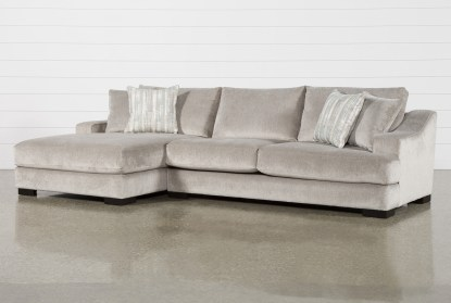 lodge fog 2 piece 139 sectional with left arm facing oversized chaise