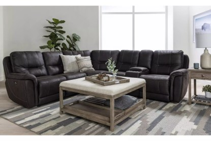 juniper 3 piece 104 power reclining sectional with right arm facing console loveseat