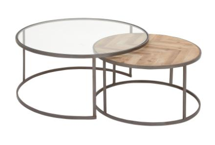 round glass coffee table living spaces