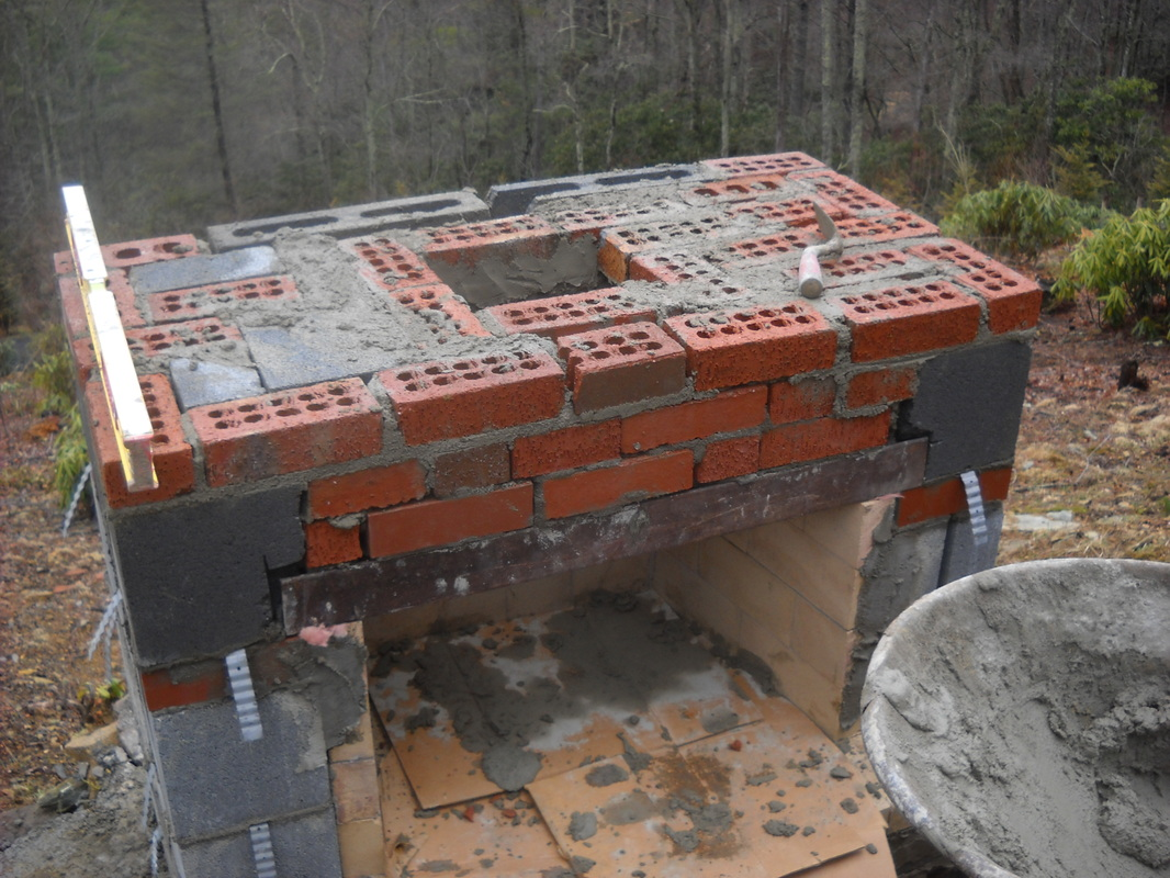 stonetutorials - Living Stone Masonry on Building Outdoor Fireplace With Cinder Block id=52715