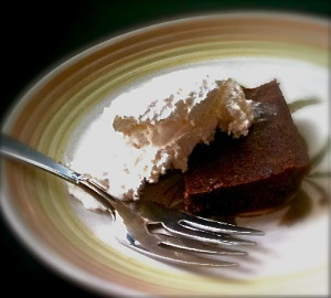 healthy brownies with whipped cream