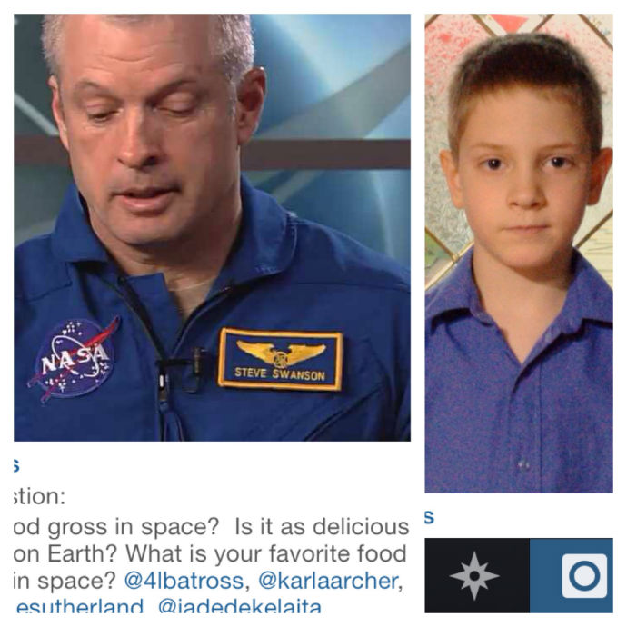 asking questions to ISS and NASA