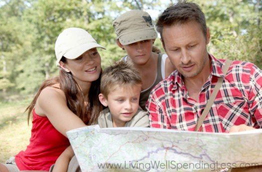 Go on an a family adventure by getting out the map and exploring your neck of the woods.
