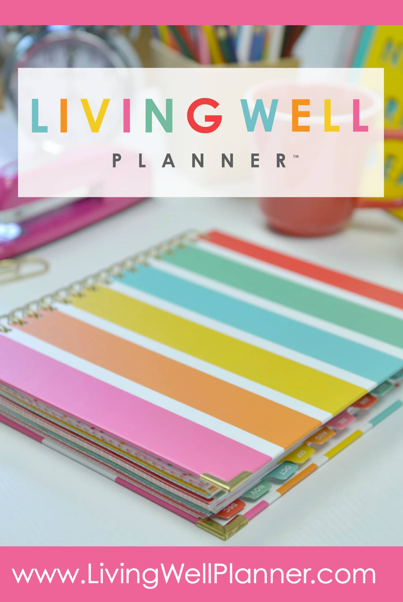 Living Well Planner Vertical With Graphic