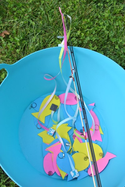 Fishing game for birthday parties