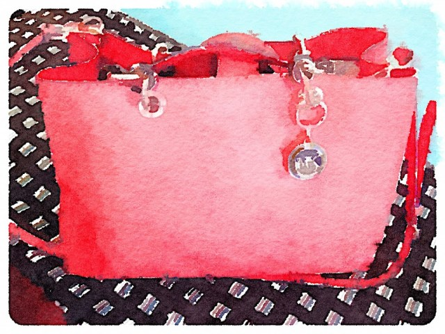 Michael Kors pocketbook watercolor