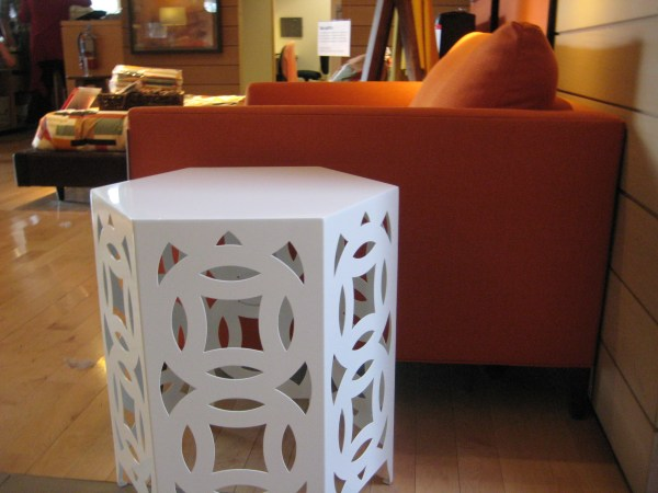 octagonal laser cut side table
