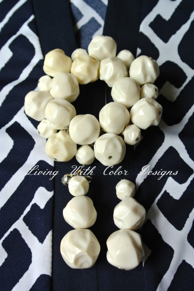 Mod retro vintage jewelry in white livingwithcolordesigns.com