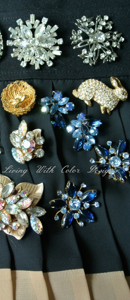 vintage costume jewelry earrings livingwithcolordesigns.com