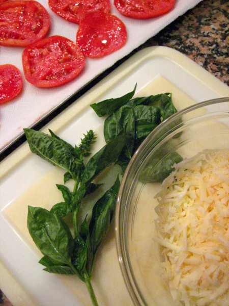 ingredients for tomato pie -Living With Color Designs
