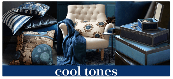 Navy at pottery barn- Living with Color Designs