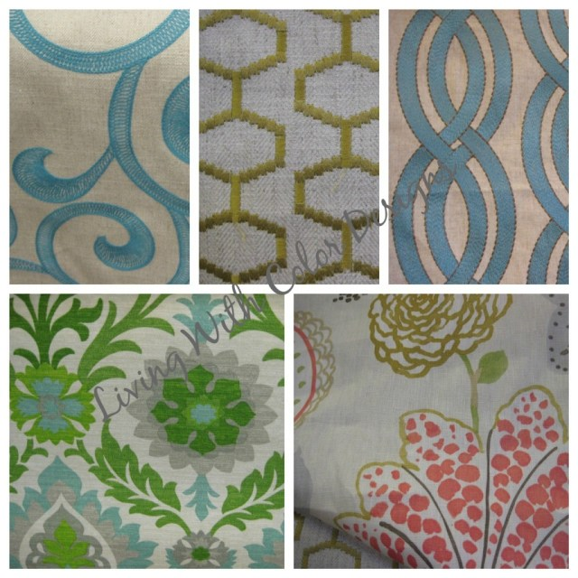 fabric inspiration board- Living With Color Designs