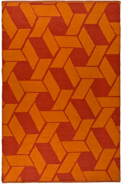 Blood orange and orange rug- Living With Color Designs