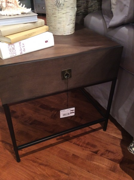 Iron and Wood end table - Living With Color designs