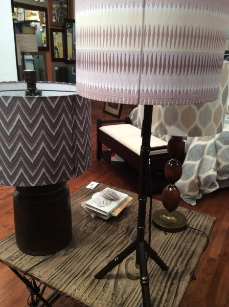 Patterned lamp shades - Living With color Designs