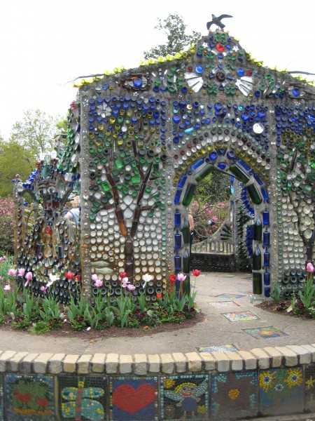 Bottle Chapel at Airlie Gardens (Minnie Evans Sculpture Garden - Living With Color Designs