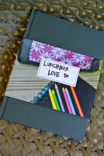 Lunchbox notes turned into a book using Artifact Uprising - Living With Color Designs