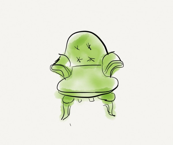 Living With Color Designs: Furniture Sketches: Ladies Chair in Lime Green