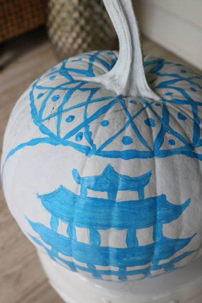 Chinoiserie Pumpkin: Living With Color Designs Blog- DIY underfloor of paint
