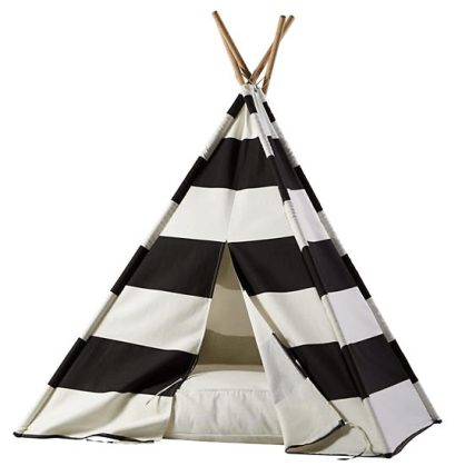 Bold black and white striped teepee: Teepees & Indoor Playhouses
