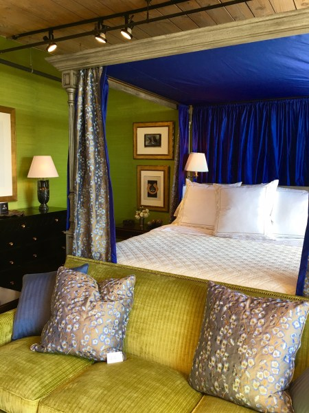 Sapphire Blue & Spring Green Tradition Bedroom