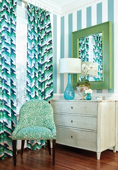 Summer colors in interior design : Palm Beach Style