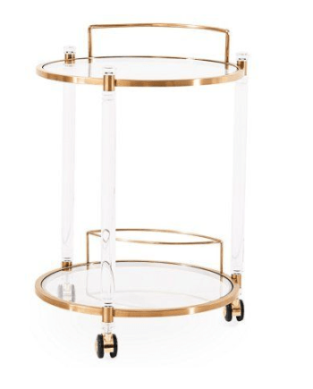 Wilcox Bar Trolley, Gold