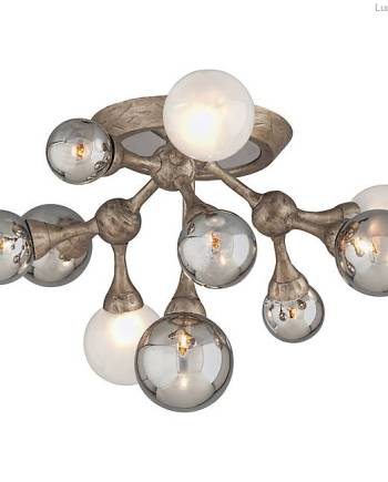 Modern ceiling mount lighting with mini globes - AH HOME