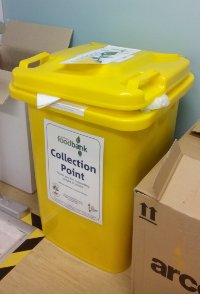 A Durham Foodbank collection point