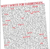 Why I Write For Farbrengen