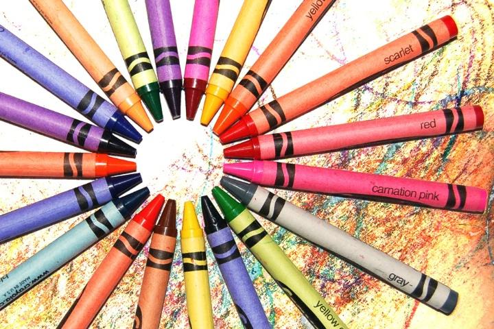 Circle Of Crayons
