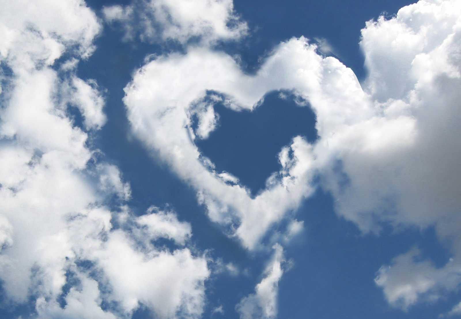 Clouds with heart shape