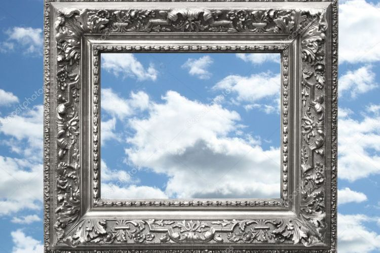 Depositphotos 3344005 Silver Picture Frame Against A Blue Sky