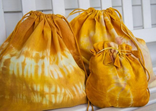 Turmeric Dyed Sacks