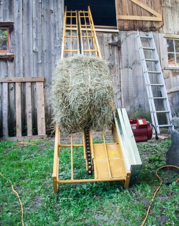 Filling the Hay Loft