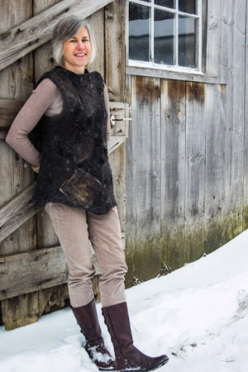Felted Gotland Wool Vest