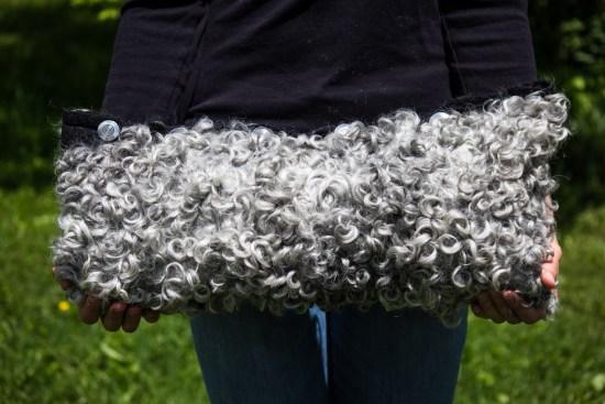 Gotland Curls Felted Pillow