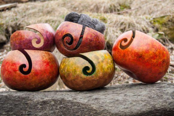 Gourd Yarn Bowl