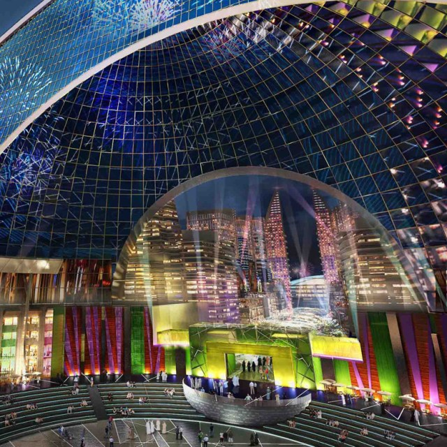 mall of the world dubai indoor theme park designboom