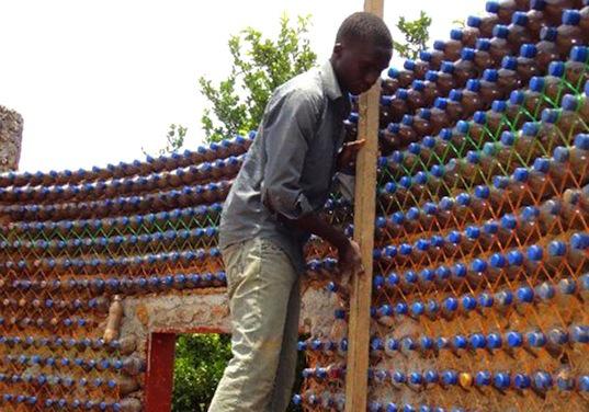 Nigeria-bottle-house-plaster