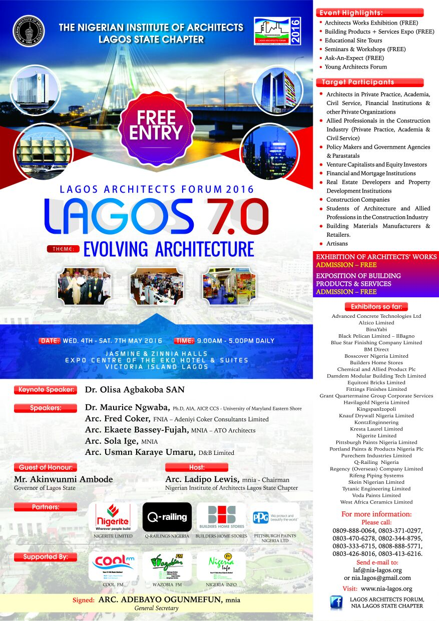 Lagos architects forum 2016