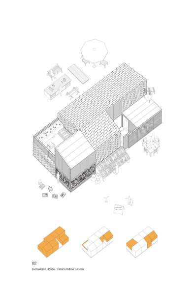 SUSTAINABLE HOUSING PROTOTYPE_MEXICO_TATIANA BILBAO_ PLANS 02