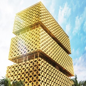 Lagos Wooden Tower a design proposal by Hermann Kamte and Associates
