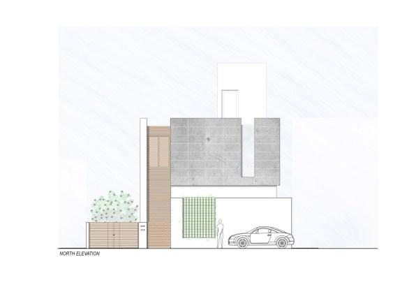 Badri Residence NORTH_ELEVATION_Architecture Paradigm