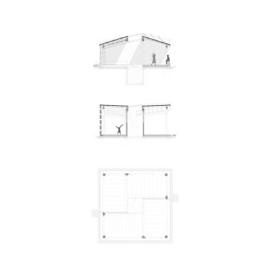 Okana community center_kenya 05_Floorplan_Section