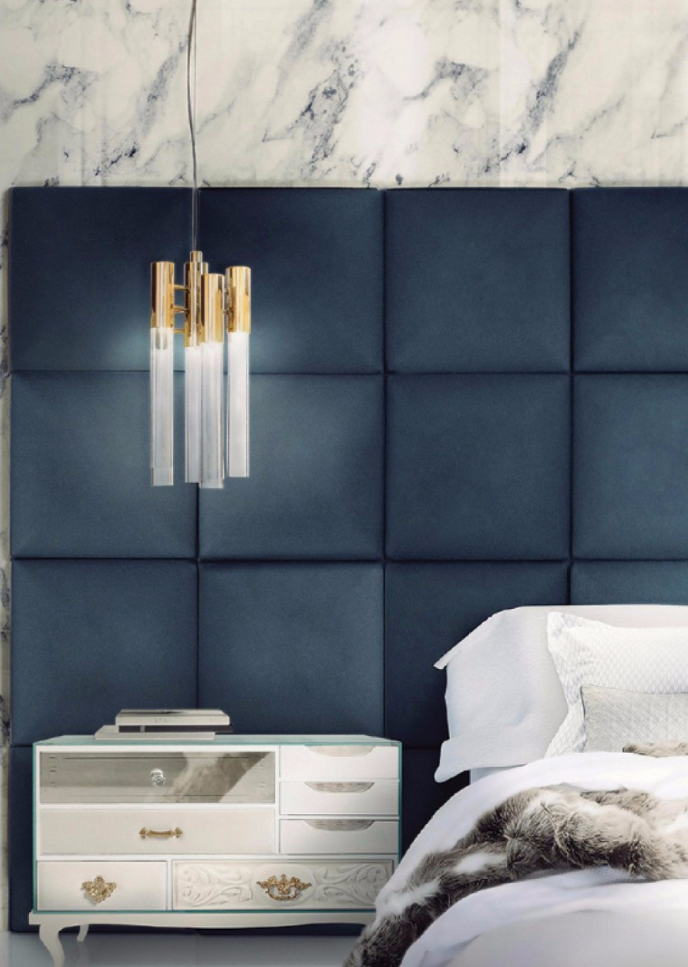Boca do lobo trends forecast 2018 navy blue for Black and blue interior design