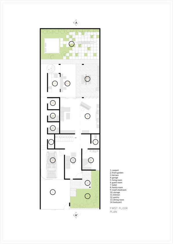House as Tree of Life_2._First_Floor_Andryahman Architects