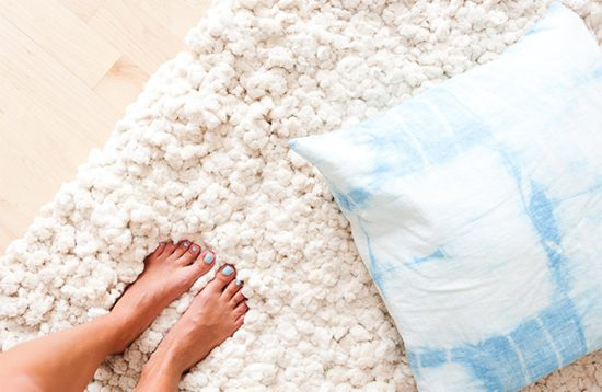 diy fluffy cotton rug 6