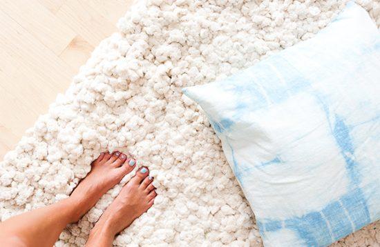 diy fluffy cotton rug 6